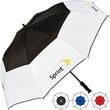 "The Visor Auto Golf Umbrella - Auto open golf compact umbrella with windproof design, comfort grip handle, 60"" arc."