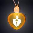 Light Up Promotional Acrylic heart Necklaces with Amber LED