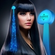 Imprinted Blue Light Hair Sparkle Clip Extensions