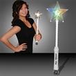 Imprinted White LED Super Star Wands