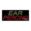 Economy LED Sign - Ear Piercing - Economy LED Sign - Ear Piercing.