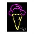 Economy LED Sign - Ice Cream Logo - Economy LED Sign - Ice Cream Logo.