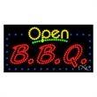 LED Sign with OPEN - B.B.Q - LED Sign with OPEN - B.B.Q.