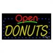 LED Sign with OPEN - Donuts - LED Sign with OPEN - Donuts.