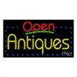LED Sign with OPEN - Antiques - LED Sign with OPEN - Antiques.