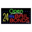LED Sign with OPEN - 24 Hrs Bail Bonds - LED Sign with OPEN - 24 Hrs Bail Bonds.