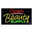 LED Sign with OPEN - Beauty Supply - LED Sign with OPEN - Beauty Supply.