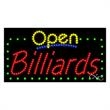 LED Sign with OPEN - Billiards - LED Sign with OPEN - Billiards.