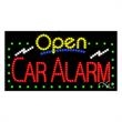 LED Sign with OPEN - Car Alarm - LED Sign with OPEN - Car Alarm.
