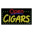 LED Sign with OPEN - Cigars - LED Sign with OPEN - Cigars.