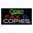 LED Sign with OPEN - Fax & Copies - LED Sign with OPEN - Fax & Copies.