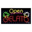 LED Sign with OPEN - Gelato - LED Sign with OPEN - Gelato.