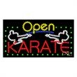 LED Sign with OPEN - Karate - LED Sign with OPEN - Karate.