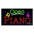 LED Sign with OPEN - Piano - LED Sign with OPEN - Piano.