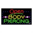 LED Sign with OPEN - Body Piercing - LED Sign with OPEN - Body Piercing.