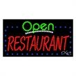 LED Sign with OPEN - Restaurant - LED Sign with OPEN - Restaurant.