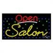 LED Sign with OPEN - Salon - LED Sign with OPEN - Salon.
