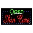 LED Sign with OPEN - Skin Care - LED Sign with OPEN - Skin Care.