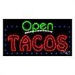 LED Sign with OPEN - Tacos - LED Sign with OPEN - Tacos.