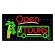 LED Sign with OPEN - Tours - LED Sign with OPEN - Tours.