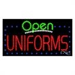 LED Sign with OPEN - Uniforms - LED Sign with OPEN - Uniforms.