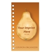 The Coupon Keeper - Coupon organizer with a four color process Pear design on the cover.