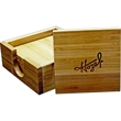 Bamboo Coaster Set - Four piece Bamboo Coaster Set and matching holder will appeal to everyone.