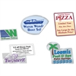 Clear Removable Custom Shape Decals - Frosty clear vinyl custom shape decal with removable adhesive.