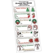 White Paper Christmas Holiday Sticker Sheet