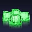 Jade lighted ice cubes (Litecubes Brand) - Stock jade premium lighted ice cube. Blank.