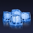 Blue LED glow ice cubes (Litecubes Brand) - Stock blue premium LED glow ice cube. Blank.