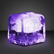 Party ice purple LED glow cube-liquid activated - Stock party liquid activated purple LED glow ice cube. Blank.