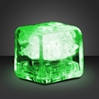 Party ice green LED glow cubes-liquid activated - Stock party liquid activated green LED glow ice cube. Blank.