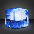 Party ice blue LED glow cubes-liquid activated - Stock liquid activated blue LED glow party ice cube. Blank.