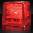 Mini ice red LED glow cubes-liquid activated - Stock mini red LED glow ice cube. Blank.
