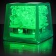 Mini ice green LED glow cubes liquid activated - Stock mini green LED glow ice cube. Blank.