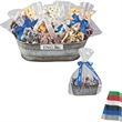 """Gourmet Gift Tub with Assorted Candy and Chocolate - Gift tin packed with an assortment of candy fillers, 12 1/4"""" x 6 1/2"""" x 6 5/8"""""""