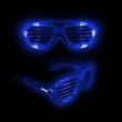 Blue LED Light-UP Slotted Glasses - Blue LED Light-Up Slotted Glasses.