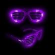 Purple LED Light-UP Slotted Glasses - Purple LED Light-Up Slotted Glasses.