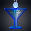 Light-up acrylic martini glass LED necklace