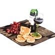 Wine Trail Coasters - Wine glass and grape shape drink coasters.