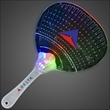 Flashing Fancy Fan with LED Lights - Flashing Fancy Fan with LED Lights 60 Day (12 Week) Imprint Production. Domestic 3-5 Day Imprint Pricing Also Available.