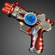 Red LED Space Gun with Sound Effects