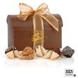 Treasure Chest of 12 Gourmet Fortune Cookies - Chocolate Brown Treasure Chest filled to the brim with 12 of our fortune cookies