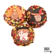 Thanksgiving Chocolate Dipped & Decorated OreoS - Chocolate covered oreos with Thanksgiving decor and autumn leaves sprinkles