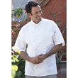 Master White Chef Coat- 12 Hand-rolled Btns - White Chef Coat; 12 hand-rolled buttons; short sleeve; 100% Egyptian cotton.