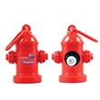 Fire Hydrant Dispenser - Pet trash bag container, with full color sticker, fire hydrant shape, 20 poly bags.