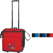 Collapsible rolling cooler - Rolling cooler with telescopic handle, leak proof liner and zippered front pocket.