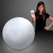 White Bounce balls with flashing color LEDs
