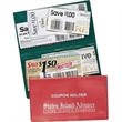 Coupon Holder For The Most Discriminating Saver - Two pocket coupon holder with fold over style case for the coupon collector.